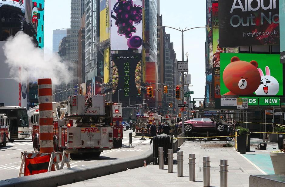 Der Ort des Unfalls, der Times Square, gehört zu den beliebtesten New Yorker Sehenswürdigkeiten.
