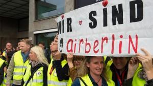 Das Ende von Air Berlin wird zur Zitterpartie