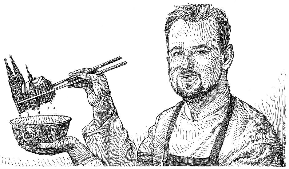 """Kochen zwischen Millowitsch und Konfuzius - Mirko Gaul gelingt dies im """"taku"""" hervorragend."""