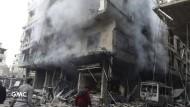 Zerstörtes Haus in Ghuta