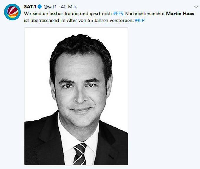 Sat.1-Moderator: Martin Haas Mit 55 Jahren Gestorben