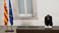 Der katalanische Regionalpräsident Carles Puigdemont