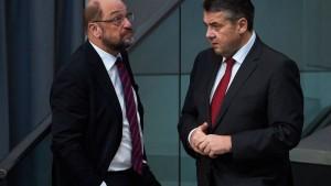 Gabriel wirft Schulz Wortbruch und Respektlosigkeit vor