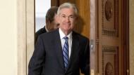 Jerome Powell vor seiner Vereidigung als Notenbankchef