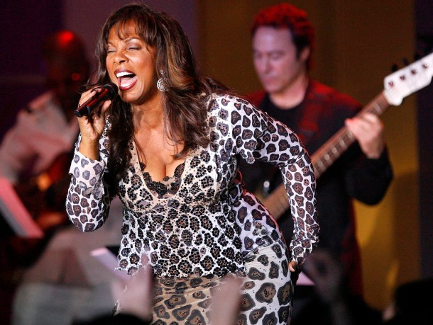 Donna Summer performs with Earth, Wind and Fire during the 13th annual Race to Erase MS gala in Century City