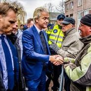 Auf Stimmenfang: Geert Wilders beim Wahlkampf