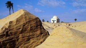 Abdrehen in der Wüste