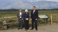 Notenbank-Chefs unter sich: Haruhiko Kuroda, Janet Yellen, Mario Draghi (von links)