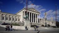 Das ehemalige Reichsratsgebäude Österreichs, Dr.-Karl-Renner-Ring 3 in Wien.
