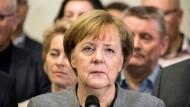 Angela Merkel muss das Scheitern der Gespräche für eine Jamaika-Koalition erklären. (20. November, Berlin)