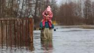 Schmelzwasser sorgt für Überschwemmungen