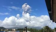 Vulkan Mount Mayon droht auszubrechen