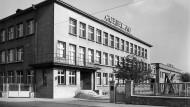 1939 errichtet: Verwaltung der Goebel AG in Darmstadt