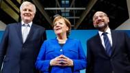 Die Parteivorsitzenden am Freitag in Berlin