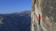 Axel Honnold am El Capitan im Yosemite Park