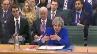 Premierministerin Theresa May beantwortet vor dem Liaison Committee des britischen Parlaments Fragen zur Austrittsrechnung des angestrebten Brexit.