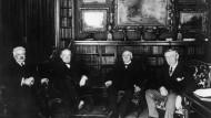 Wilsons unwillige Alliierte: Orlando (Italien), Lloyd George (Großbritannien) und Clemenceau (Frankreich)