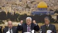 Palästinenserpräsident Mahmud Abbas (hier im Januar in Ramallah) sorgt im Verhältnis zu Amerika mit seiner Verbal-Attacke für weitere Spannungen.