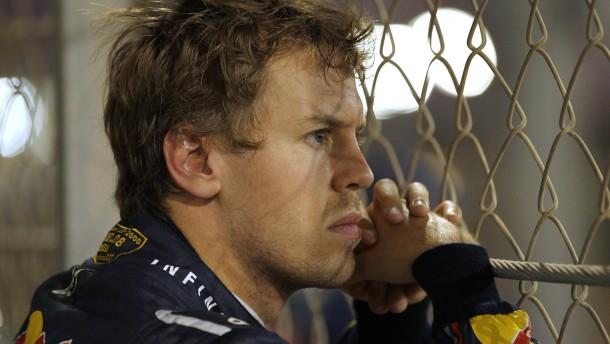 Vettel auf dem Außenposten