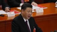 Staats- und Parteichef Xi Jinping schlägt auf dem Volkskongress in Peking scharfe Töne an.