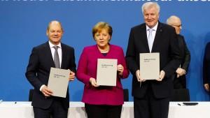 Union und SPD unterzeichnen Koalitionsvertrag