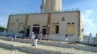 Die Al-Rawdah-Moschee in der Nähe der ägyptischen Provinzhauptstadt Al Arisch