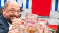 Gab sich am Tag nach dem TV-Duell in Gillamoos angriffslustig: Martin Schulz