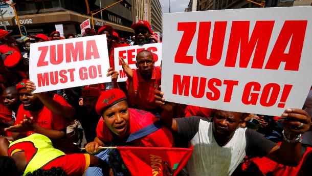 Parlament plant Misstrauensvotum gegen Zuma
