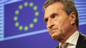 Oettinger: Italiener haben nicht gegen die EU gewählt