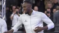 Usain Bolt auf dem Fußballplatz
