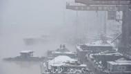 Im Hafen von Huai'an.