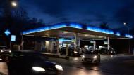 Tankstelle in der Innenstadt von Trier