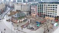 Sanierungsfall: Der Platz an der Frankfurter Hauptwache soll umgebaut werden.