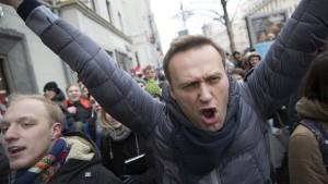 Russische Polizei nimmt Oppositionellen Nawalny fest