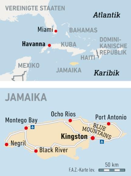 Karte / Jamaika / Kingston