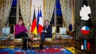 Vor allem dem Charismatiker Macron wird zugetraut, die europäische Idee – gemeinsam mit Kanzlerin Merkel – weiter voranzutreiben.