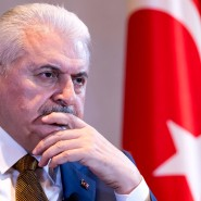 Binali Yildirim, Ministerpräsident der Türkei, am Rande der Münchner Sicherheitskonferenz