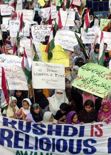 Protest in Lahore, Pakistan