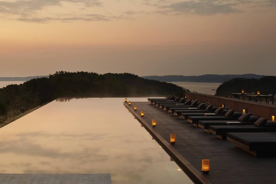 """Der Ise-Shima-Nationalpark, in dem im Mai das letzte G- 7-Treffen stattfand, ist eine Gegend mit besonders vielen heißen Quellen und die Heimat des neuen """"Amanemu""""-Resorts."""