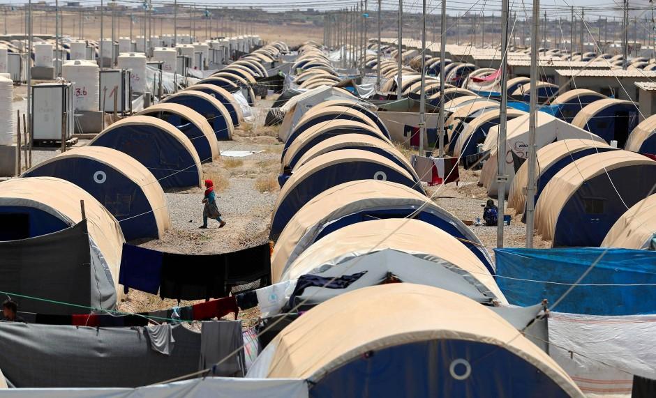 """Ein Flüchtlingslager im Irak: Letztendlich erzählt """"American War"""" nur von Dingen, die existieren."""