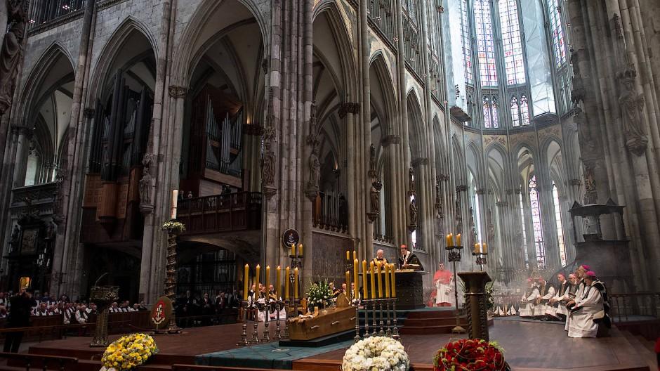 Gedenkgottesdienst: Abschied von Kardinal Meisner vor zwei Monaten.