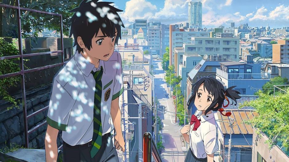 Wir wollen uns an dem Ort treffen, der am weitesten von jedem Abschied entfernt ist: Taki (links) und Mitsuha im grenzenlosen Tokio der Träume.
