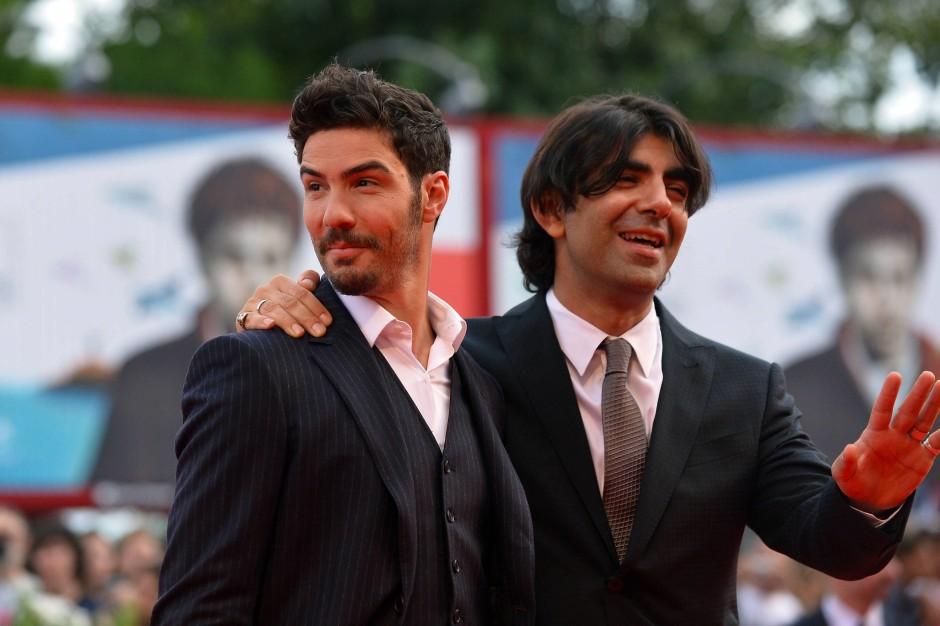 Nehmen Kino ernst: Fatih Akin mit seinem Hauptdarsteller, dem französischen Schauspieler Tahar Rahim, in Venedig