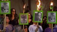 """Gewalt gegen Journalisten: Im Mai dieses Jahres protestierten in Mexiko-Stadt Bürger gegen das mörderische Treiben der Mafia-Kartelle. Kurz zuvor war der Journalist Javier Valdez von der Zeitung """"La Jornada"""" ermordet worden."""