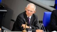 Würde des Hauses: Der neue Bundestagspräsident Wolfgang Schäuble.