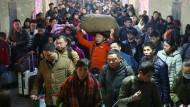 Die Reisewelle zum bevorstehenden Frühlingsfest (Neujahrsfest) in China ist gigantisch.