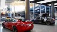 Ein Tesla-Showroom in Manhattan