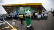 Vor einem Pachinko-Kasino in Fuefuki, westlich von Tokio.