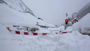 Höchste Lawinengefahr in den Alpen