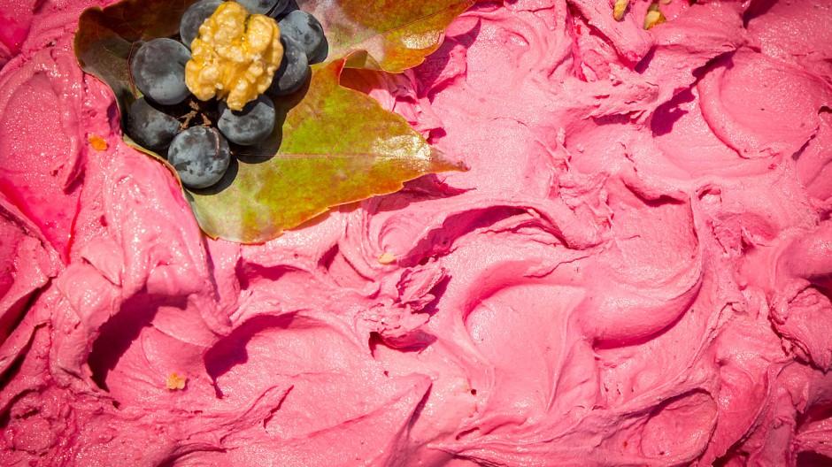 Trauben aus Venetien sind die Grundlage für De Roccos Eiskreation.
